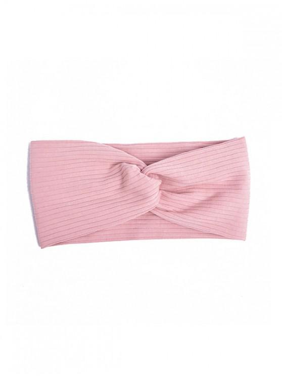 shop Striped Elastic Hair Band - PINK