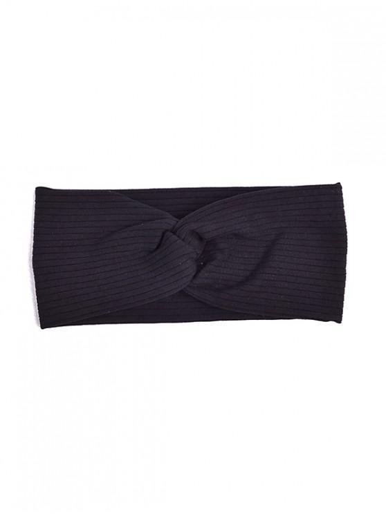 sale Striped Elastic Hair Band - BLACK