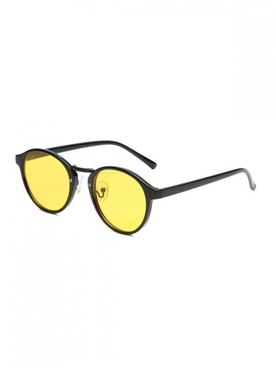 lady Vintage Round Sunglasses - YELLOW
