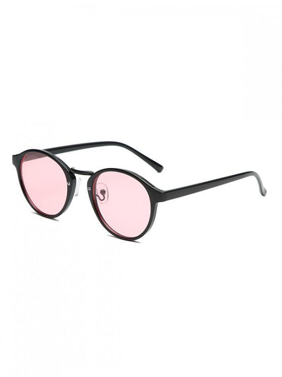 Gafas de sol redondas de la vendimia - Rosado