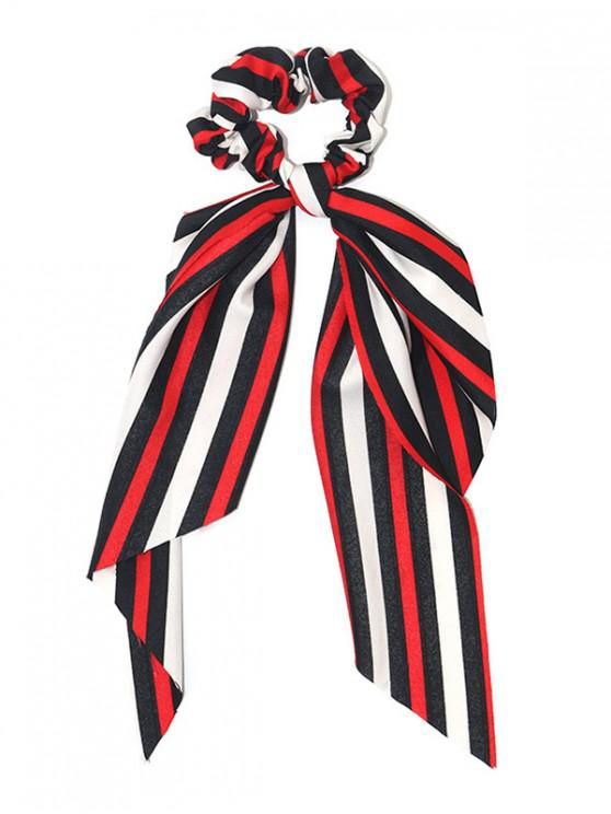 Banda elástica de pelo de raya - Rojo