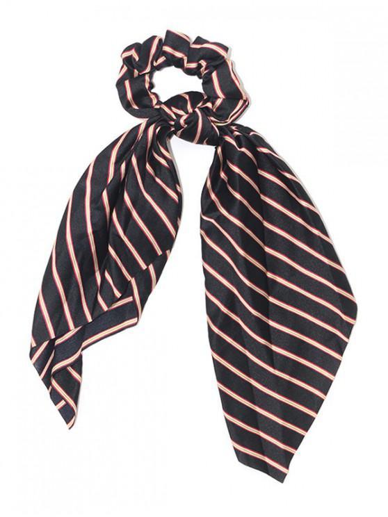 latest Stripe Elastic Hair Band - BLACK