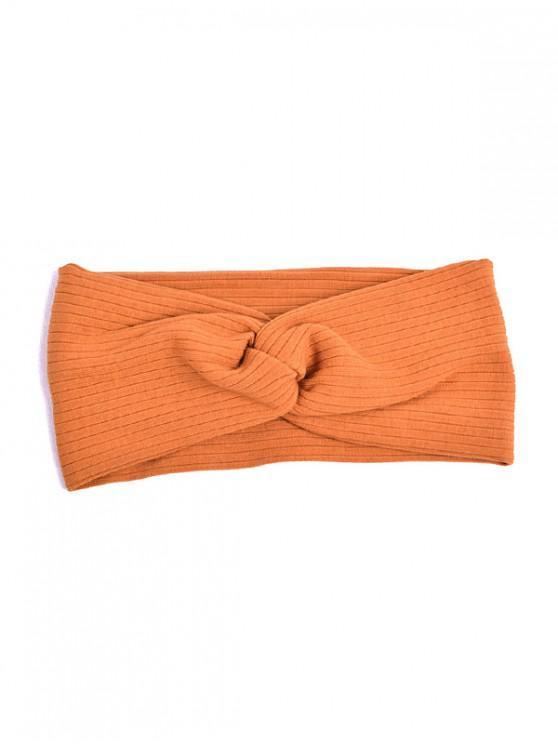 trendy Striped Elastic Hair Band - LIGHT BROWN
