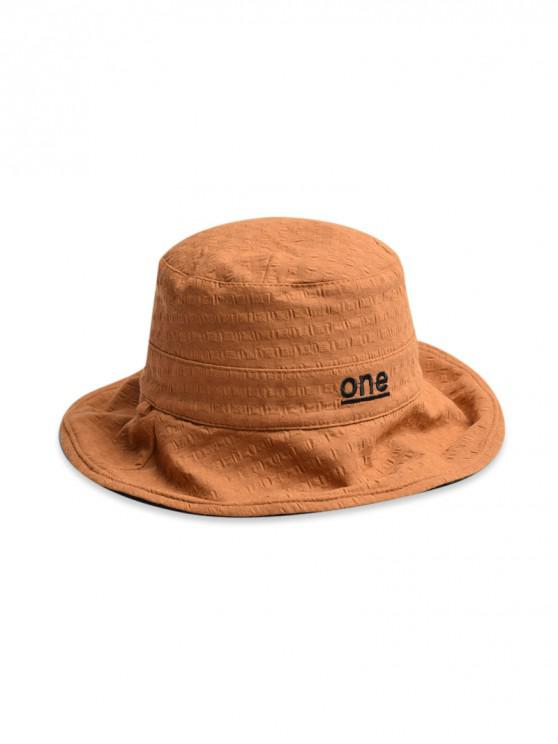 shop One Embroidery Bucket Hat - CAMEL BROWN