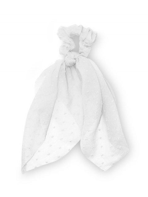 Bande de Cheveux Elastique en Mousseline - Blanc Lait  Mobile