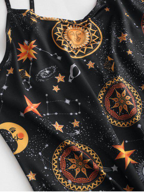 Robe Tunique Courte Imprimée Sans Dos à Bretelle - Multi-B XL Mobile