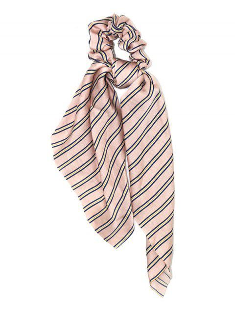 chic Stripe Elastic Hair Band - PINK  Mobile