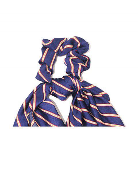 Bande de Cheveux Elastique Rayé - Bleu  Mobile