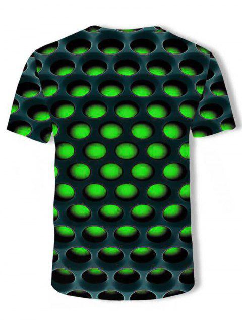 Camiseta con Estampado de Nido de Abeja - Verde 3XL Mobile