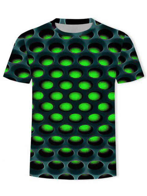 online Burning Honeycomb Briquette Graphic Tee - GREEN 3XL Mobile
