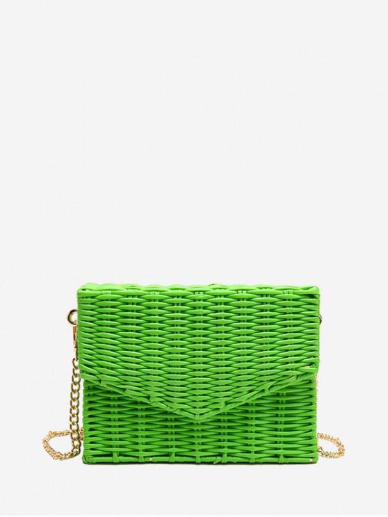 Bolso cuadrado retro Weaving - Verde de Algas Marinas