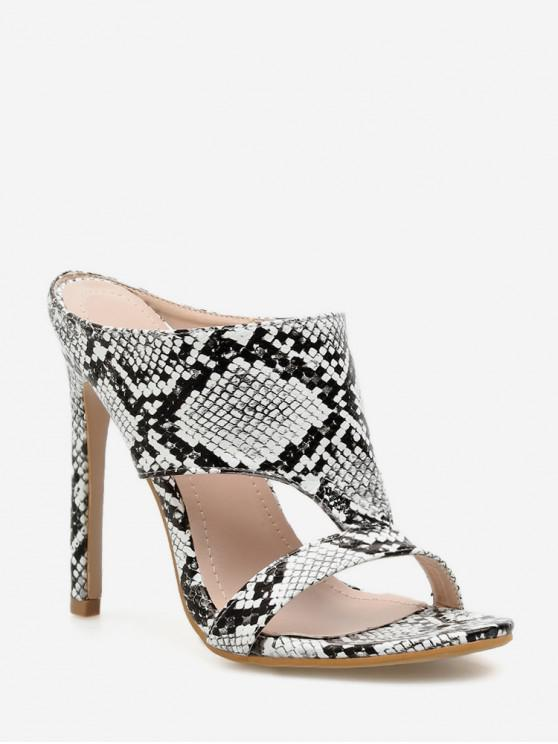 new Hollowed Out European High Heel Sandals - SILVER EU 40