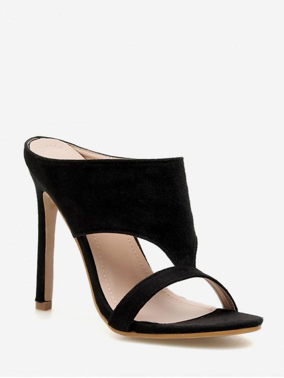 457b3ad0538 Hollowed Out European High Heel Sandals