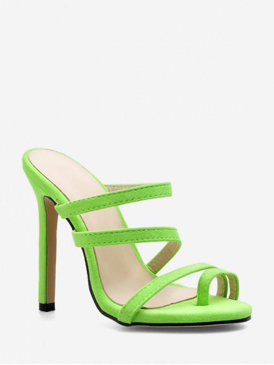Sandalias con estilo de tacón alto sólido - Verde de Pino  EU 38