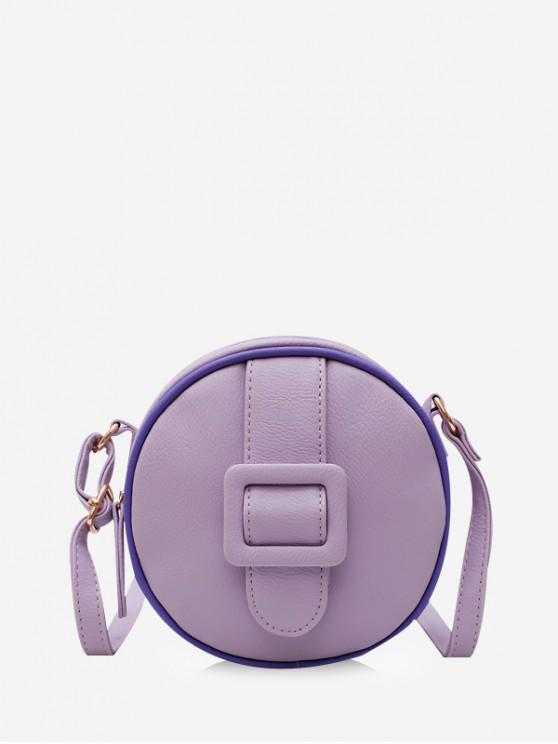 Bolso Bandolera Redondo Sólido - oscuro Violeta