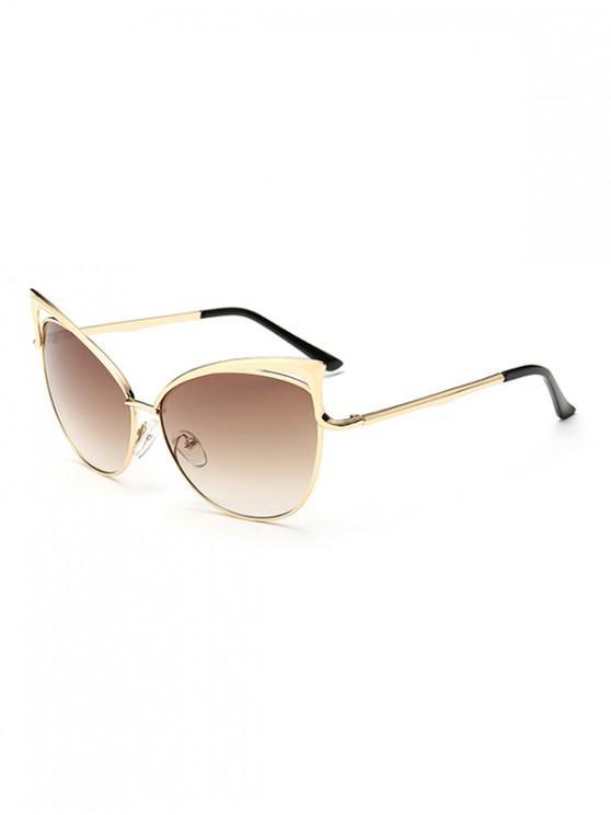 Gafas de sol con estilo de marco de metal irregular - Tan