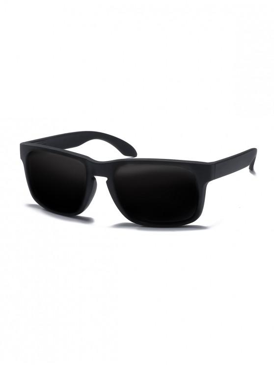 unique Rectangle Anti-UV Sunglasses - BLACK EEL
