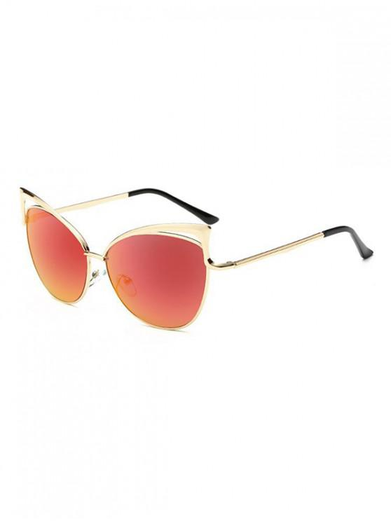 Gafas de sol con estilo de marco de metal irregular - Rosa Flamenco