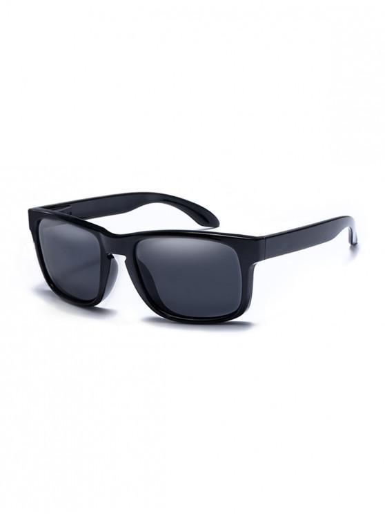 Rectangular anti-uv gafas de sol - Negro