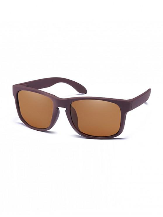 Rectangular anti-uv gafas de sol - Marrón