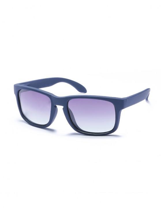 Rectangular anti-uv gafas de sol - Azul Aciano