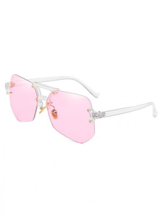 Gafas de sol sin montura de forma irregular con estilo - Cerdo Rosa