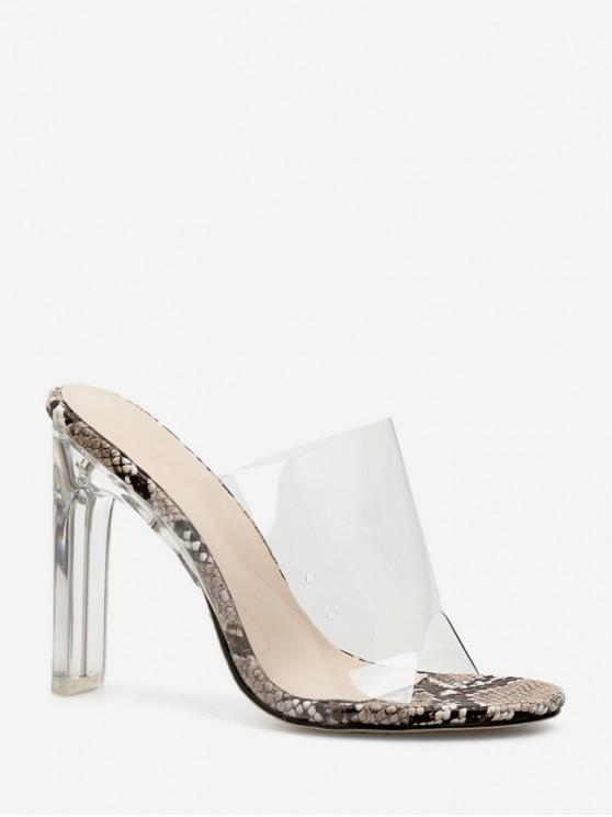 chic Peep Toe Transparent High Heel Sandals - WHITE EU 35