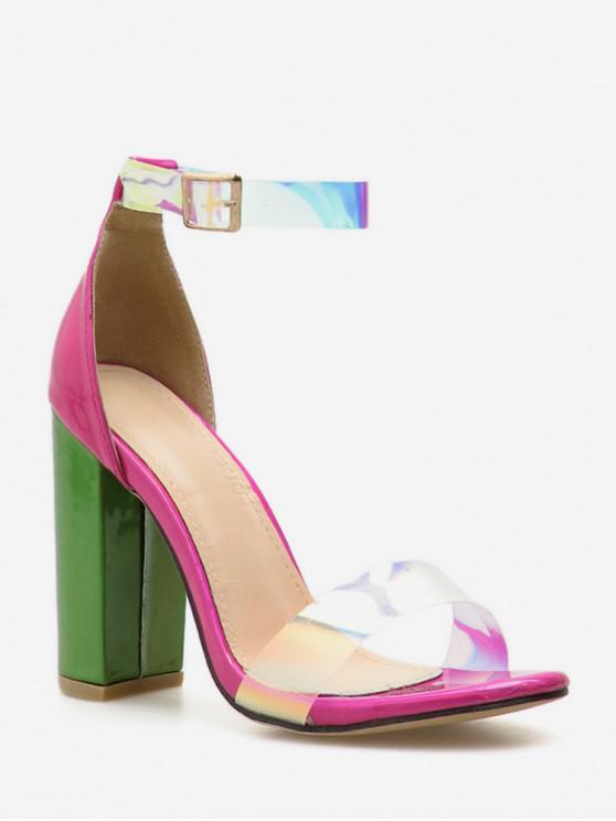 best High Heel Pointed Toe Sandals - ROSE RED EU 40