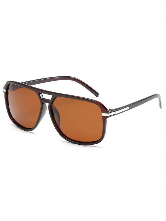 trendy Vintage Polarized Sunglasses - BROWN