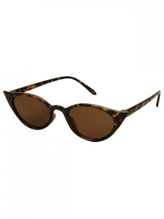 Conducir gafas de sol polarizadas ovaladas estrechas - Marrón