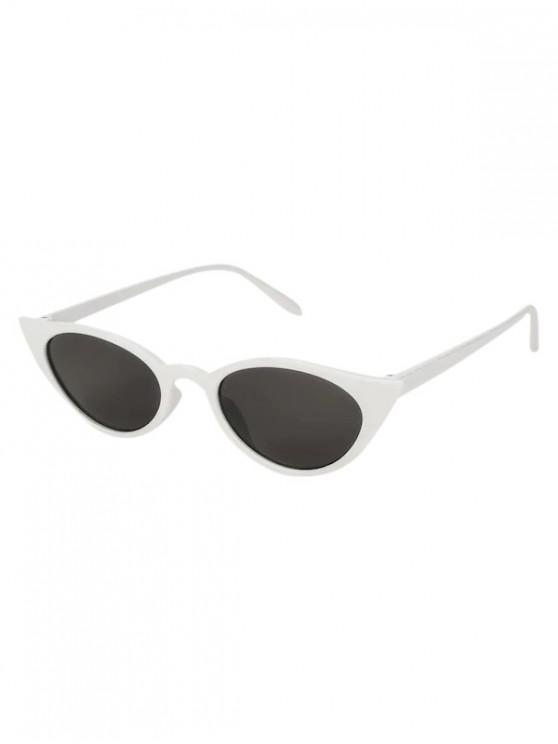 Conducir gafas de sol polarizadas ovaladas estrechas - Blanco