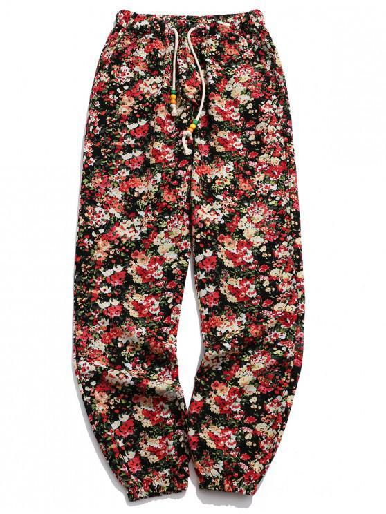 Pantalones de jogger con estampado tribal de Ditsy Allover - Multicolor-H XL