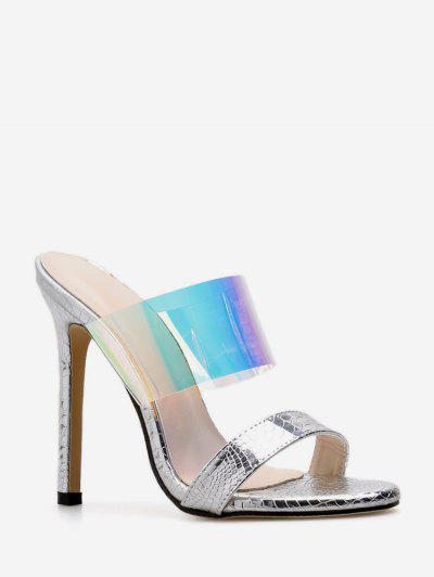 280bc63276d5 European Stylish Transparent High Heel Sandals - White Eu 35 ...