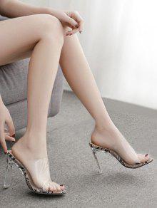 8cbebdfd650 Peep Toe Transparent High Heel Sandals