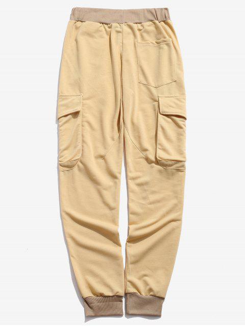 Pantalon de jogging décontracté avec cordon de serrage à poche sur le côté - Verge d'Or 3XL Mobile