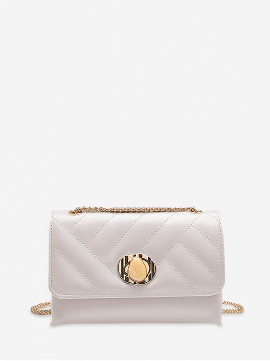 shop PU Leather Shoulder Bag - WHITE