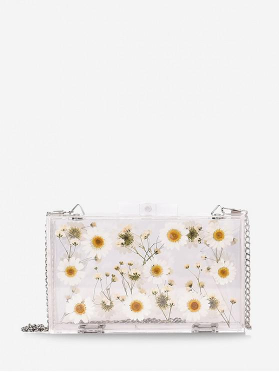 outfits Flower Jelly Crossbody Bag - WHITE