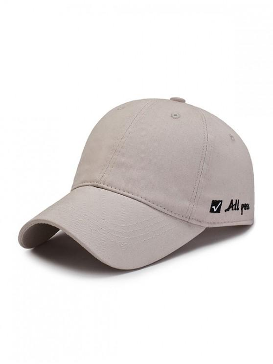 Sombrero de beisbol gráfico bordado carta - Beige