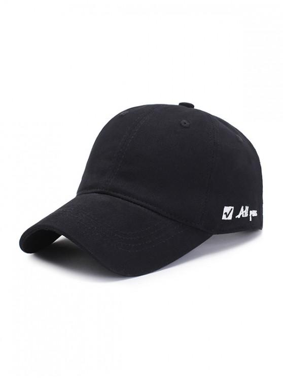 new Letter Embroidered Graphic Baseball Hat - BLACK