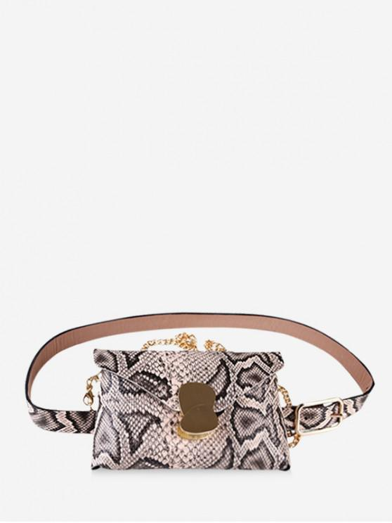 affordable Snakeskin Design Fanny Pack - APRICOT