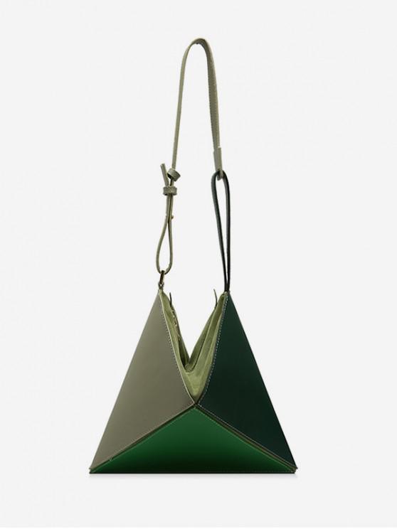 Bandolera geométrica - Verde Oscuro