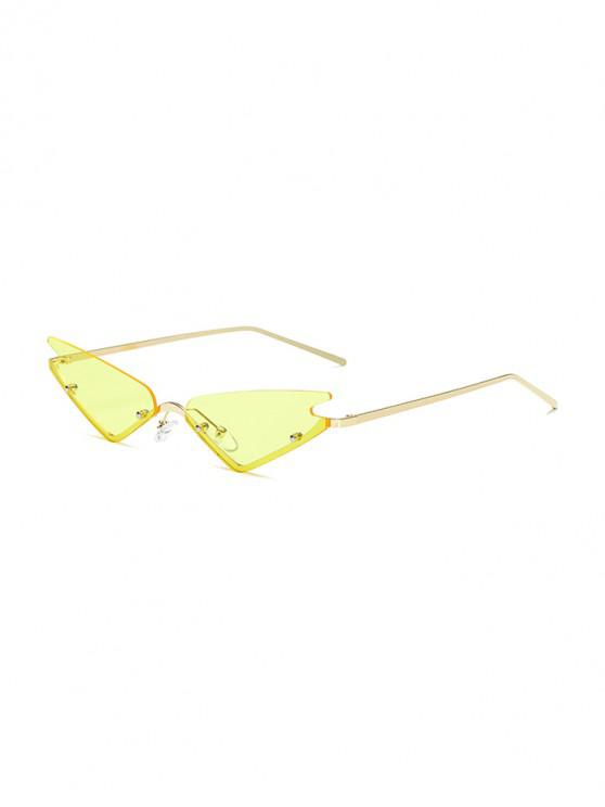 womens Vintage Style Outdoor Sunglasses - YELLOW