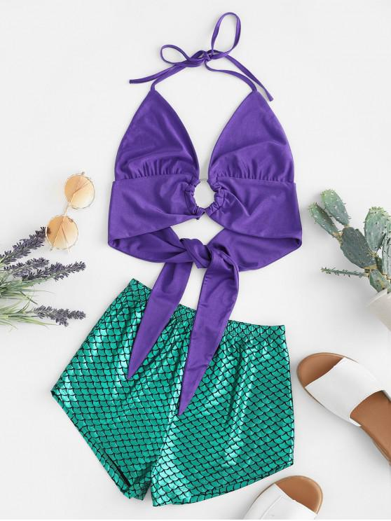 outfits ZAFUL O-ring Mix and Match Mermaid Two Pieces Set - MULTI M