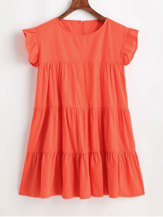 Mini abito a trapezio in tinta unita - Arancia Zucca L