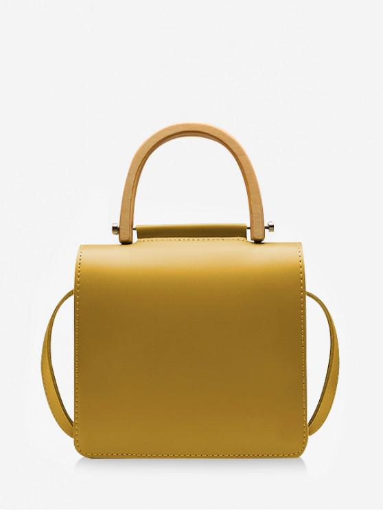 fancy Casual Square Shoulder Bag - YELLOW