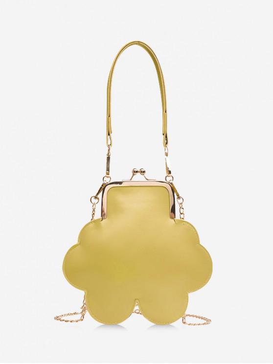 hot Floral Shoulder Bag - YELLOW