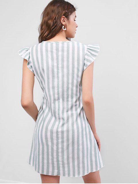 ZAFUL Mini Robe Nouée Rayé à Volants - Multi M Mobile