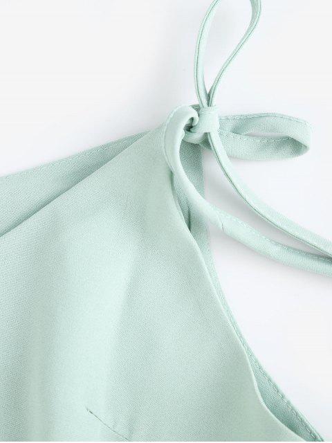 Mini robe cami boutonnée à bretelles - Vert 2XL Mobile