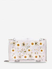 Bolso bandolera de flores de jalea