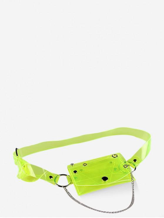 best Transparent Laser PVC Chain Fanny Pack - GREEN